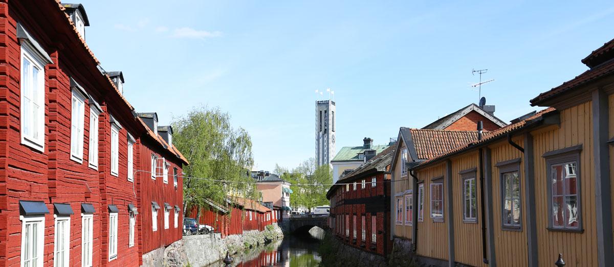 Svartån med Västerås stadshus i blickfånget. Foto: Christina Wallnér, No WaIT AB.