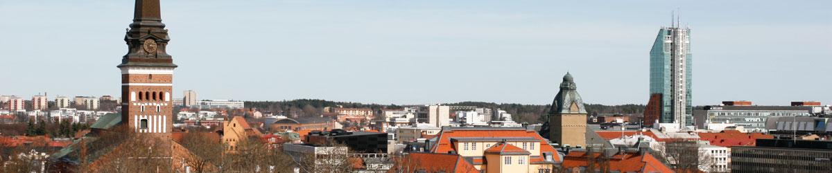 Västerås sett uppifrån Djäkneberget. Foto: Christina Wallnér