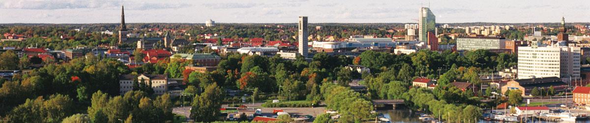 Västerås sett från ovan. Foto: Clifford Shirley. Bilden är beskuren.